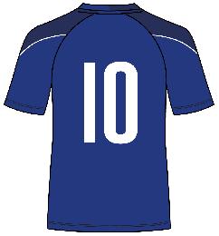 【140サイズ用 背番号シートのみ】スクール生限定ユニフォームゲームシャツ