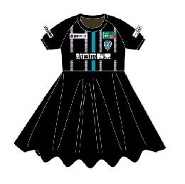 【受注商品】スカート付ユニフォーム/ブラック(GK)